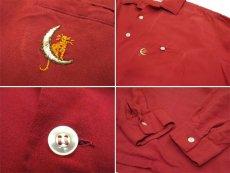 """画像5: 1960's """"McGREGOR"""" L/S Rayon Box Shirts RED size L (表記 L 16 1/2 - 17) (5)"""