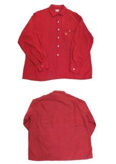 """画像3: 1960's """"McGREGOR"""" L/S Rayon Box Shirts RED size L (表記 L 16 1/2 - 17) (3)"""