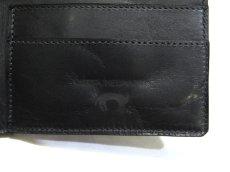 """画像6: """"JUTTA NEUMANN"""" Leather Wallet with Change Purse  color : Black / Sky Blue 二つ折り財布 (6)"""