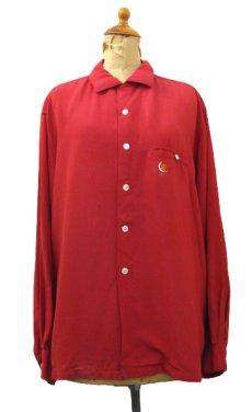 """画像1: 1960's """"McGREGOR"""" L/S Rayon Box Shirts RED size L (表記 L 16 1/2 - 17) (1)"""