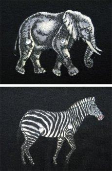 """画像4: 1990's """"FOCUS"""" Design L/S T-Shirts """"Animal Print"""" BLACK size L-XL (表記 ONE SIZE FITS ALL) (4)"""
