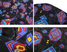 """画像5: 1980's~ """"Wrangler"""" Native Pattern BD Shirts -made in USA- BLACK size M (表記 15 - 34) (5)"""