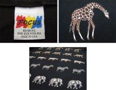"""画像6: 1990's """"FOCUS"""" Design L/S T-Shirts """"Animal Print"""" BLACK size L-XL (表記 ONE SIZE FITS ALL) (6)"""