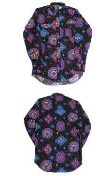 """画像3: 1980's~ """"Wrangler"""" Native Pattern BD Shirts -made in USA- BLACK size M (表記 15 - 34) (3)"""