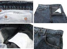 画像6: 1990's Levi Strauss & Co. Lot 505 Chemical Wash Tapered Denim Pants -made in U.S.A- Black Denim size w 31.5 inch (表記 32 x 32) (6)