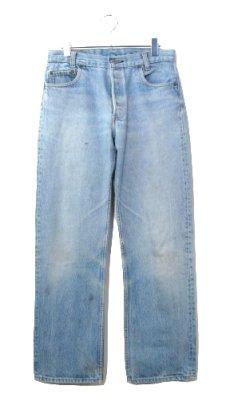 画像1: 1980's Levi Strauss & Co. Lot 701 Student FIt Denim Pants -made in U.S.A- Blue Denim size w 31 inch (表記 32 x 32)  (1)