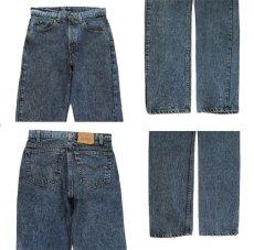 画像3: 1990's Levi Strauss & Co. Lot 505 Chemical Wash Tapered Denim Pants -made in U.S.A- Black Denim size w 31.5 inch (表記 32 x 32) (3)
