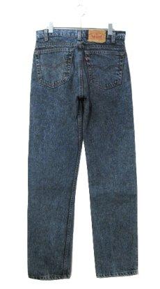 画像2: 1990's Levi Strauss & Co. Lot 505 Chemical Wash Tapered Denim Pants -made in U.S.A- Black Denim size w 31.5 inch (表記 32 x 32) (2)