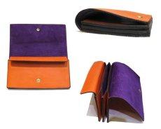 """画像3: """"JUTTA NEUMANN"""" Leather Wallet """"the Waiter's Wallet""""  color : Orange / Grape 長財布 (3)"""