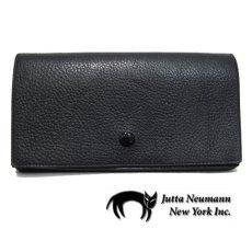 """画像1: """"JUTTA NEUMANN"""" Leather Wallet """"the Waiter's Wallet""""  color : Black / Lime Green 長財布 (1)"""