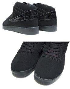 """画像4: NEW """"FILA"""" Synthetic Upper Hi-Cut Shoes Black size 9.5 (27.5 cm) (4)"""