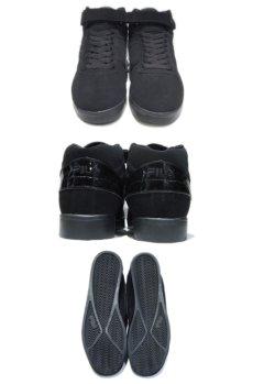 """画像2: NEW """"FILA"""" Synthetic Upper Hi-Cut Shoes Black size 9.5 (27.5 cm) (2)"""