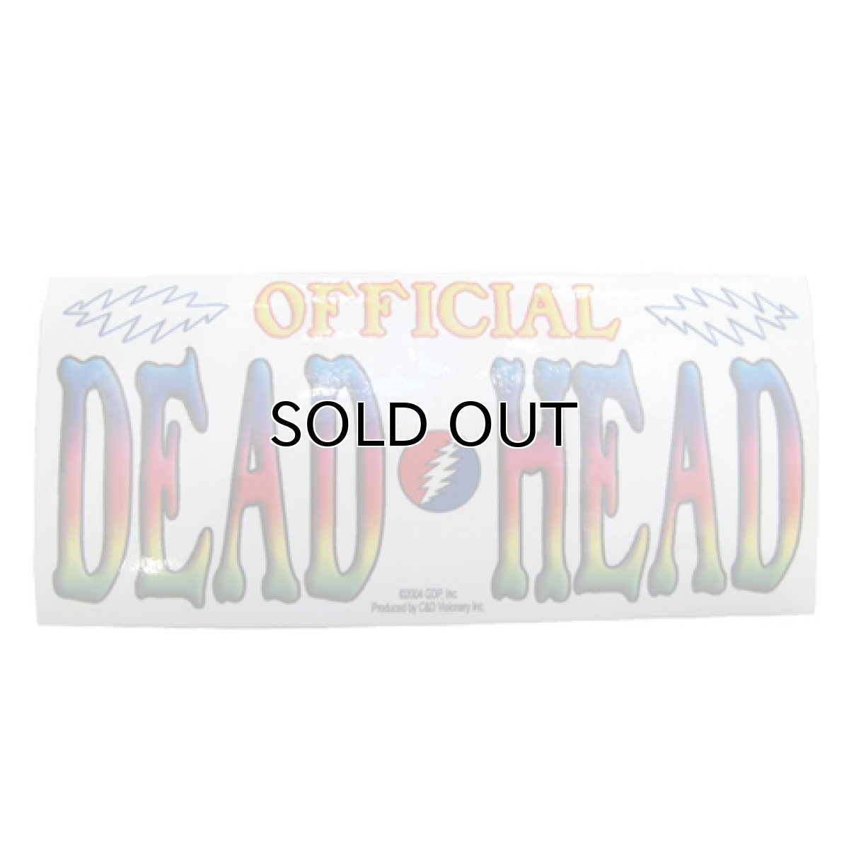 "画像1: Grateful Dead ""OFFICIAL DEAD HEAD"" Stickers (1)"