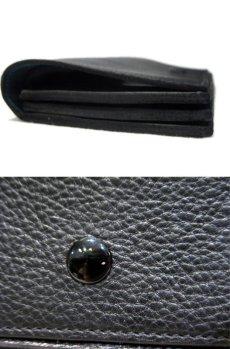 """画像4: """"JUTTA NEUMANN"""" Leather Wallet """"the Waiter's Wallet""""  color : Black / Emerald 長財布 (4)"""