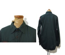 "画像2: 1960's~ ""Boy Scout of America BSA"" Cotton L/S Shirts  GREEN size M - L (表記 15 REG) (2)"
