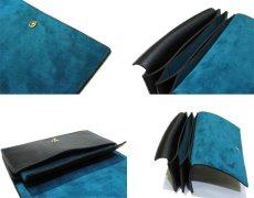 """画像3: """"JUTTA NEUMANN"""" Leather Wallet """"the Waiter's Wallet""""  color : Black / Emerald 長財布 (3)"""