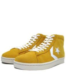 """画像1: NEW CONVERSE """"Pro Leather """" Suede Hi-Cut Sneaker YELLOW size 10 (28 cm) (1)"""