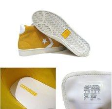 """画像4: NEW CONVERSE """"Pro Leather """" Suede Hi-Cut Sneaker YELLOW size 10 (28 cm) (4)"""