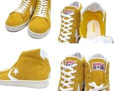 """画像3: NEW CONVERSE """"Pro Leather """" Suede Hi-Cut Sneaker YELLOW size 10 (28 cm) (3)"""