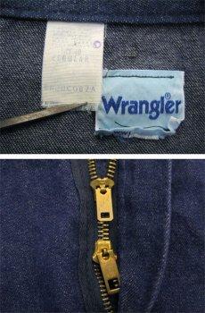 """画像4: 1970's """"Wrangler"""" Blue Denim All in One Dead Stock one-washed Blue Denim  size 40R (4)"""