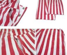 """画像4: 1980's """"GAME BIBS"""" Wide Stripe Overall Red / White size M - L (表記 不明) (4)"""