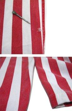 """画像5: 1980's """"GAME BIBS"""" Wide Stripe Overall Red / White size M - L (表記 不明) (5)"""