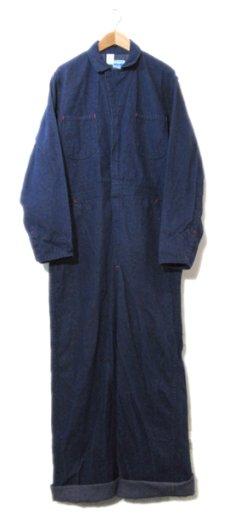 """画像1: 1970's """"Wrangler"""" Blue Denim All in One Dead Stock one-washed Blue Denim  size 40R (1)"""