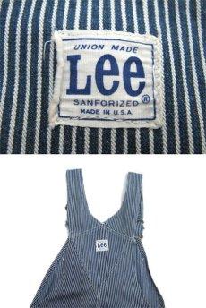画像4: 1960's~ Lee Hickory Stripe Worker Overall Navy / White size S - M (表記 不明) (4)
