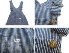 画像3: 1960's~ Lee Hickory Stripe Worker Overall Navy / White size S - M (表記 不明) (3)
