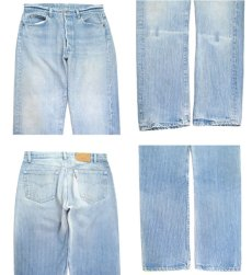 画像3: 1990's Levi Strauss & Co. Lot 501 Stripe Denim Pants Blue Denim size w 33.5 inch (3)