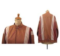 "画像2: 1980's ""Jordana"" Zip Up Design Jacket -made in USA- BROWN系 size M (表記 S) (2)"