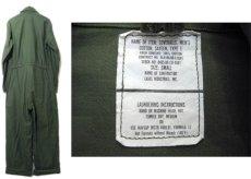 画像2: 1980's U.S.Military Cotton Sateen All in One Dead Stock one-washed OLIVE size SMALL (2)