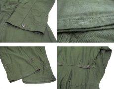 画像5: 1980's U.S.Military Cotton Sateen All in One Dead Stock one-washed OLIVE size SMALL (5)