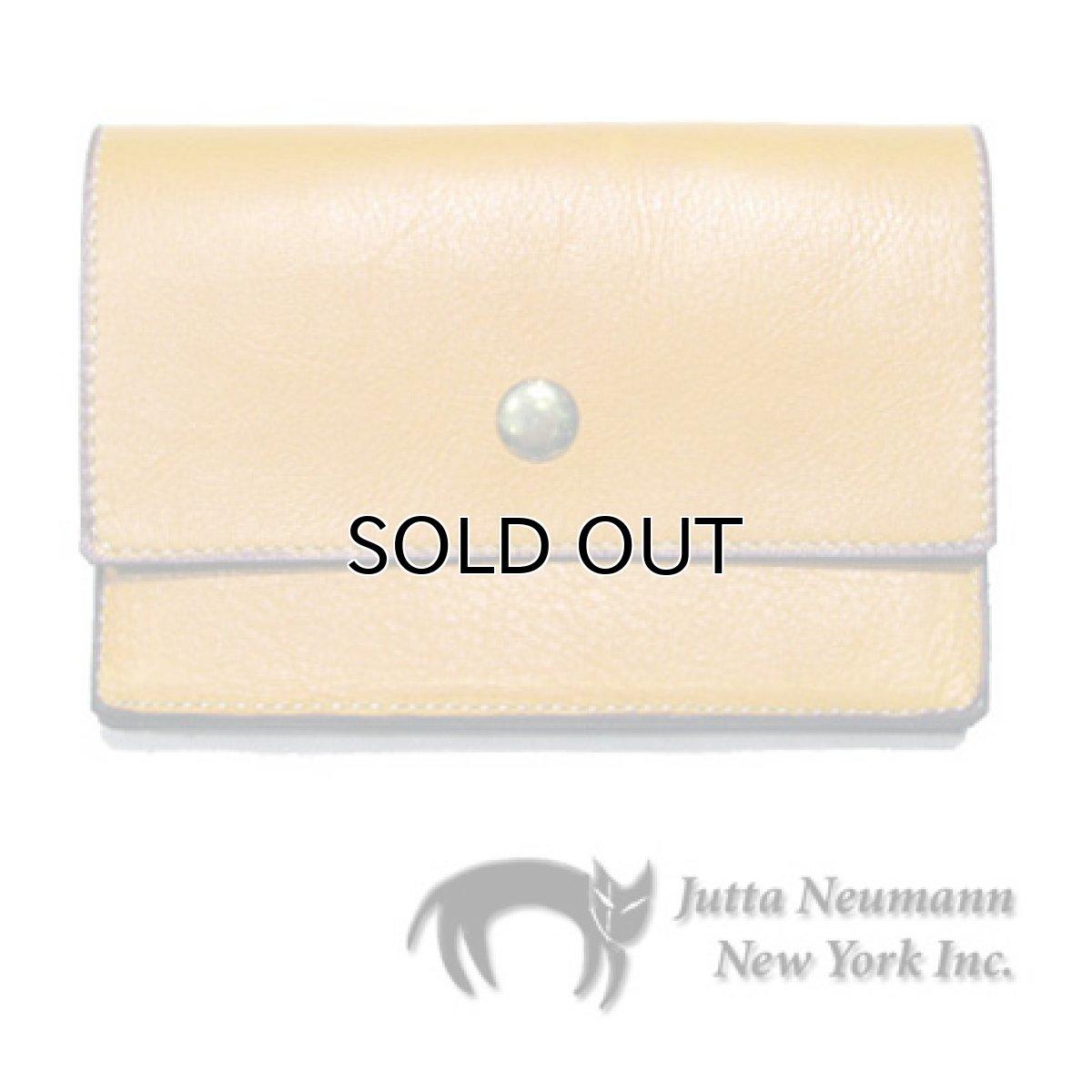 """画像1: """"JUTTA NEUMANN"""" Leather Wallet """"the Waiter's Wallet""""  Medium Size color : Mustard / Turquoise (1)"""