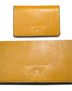 """画像2: """"JUTTA NEUMANN"""" Leather Wallet """"the Waiter's Wallet""""  Medium Size color : Mustard / Turquoise (2)"""