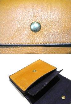 """画像5: """"JUTTA NEUMANN"""" Leather Wallet """"the Waiter's Wallet""""  Medium Size color : Mustard / Deep Purple (5)"""