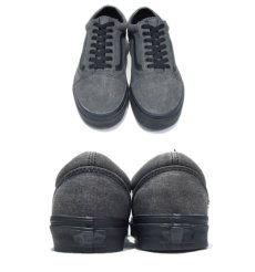 "画像3: NEW ""VANS""  OLD SCHOOL Black Denim Sneaker Grey / Black size 12 (3)"