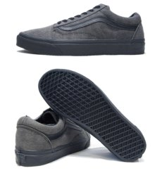 "画像2: NEW ""VANS""  OLD SCHOOL Black Denim Sneaker Grey / Black size 12 (2)"