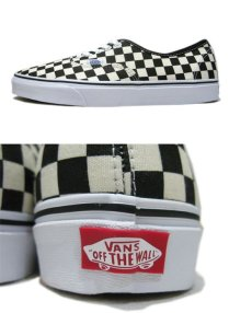"画像3: NEW VANS Authentic ""Checker Flag"" Canvas Sneaker White / Black size 13 (3)"