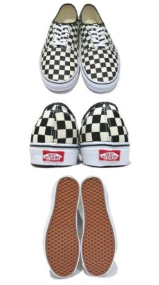 "画像2: NEW VANS Authentic ""Checker Flag"" Canvas Sneaker White / Black size 13 (2)"