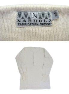 画像4: ~1960's Europe Cotton Pile Henley Neck Shirts DEAD STOCK size M - L (表記 7) (4)