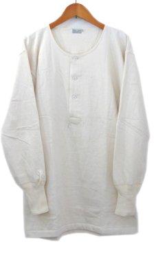 画像1: ~1960's Europe Cotton Pile Henley Neck Shirts DEAD STOCK size M - L (表記 7) (1)