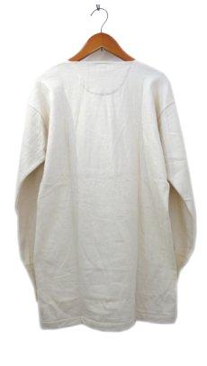 画像2: ~1960's Europe Cotton Pile Henley Neck Shirts DEAD STOCK size M - L (表記 7) (2)