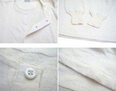 画像5: ~1960's Europe Cotton Pile Henley Neck Shirts DEAD STOCK size M - L (表記 7) (5)