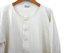 画像3: ~1960's Europe Cotton Pile Henley Neck Shirts DEAD STOCK size M - L (表記 7) (3)