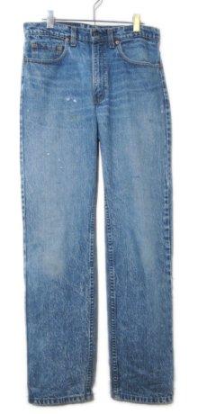 画像1: 1990's Levi Strauss & Co. Lot 505 Denim Pants with Studs Blue Denim size w 31 inch (表記 32 x 32) (1)
