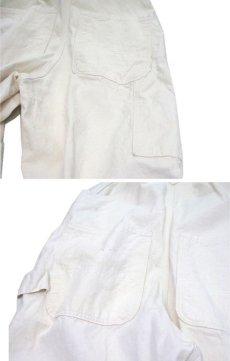 """画像5: NEW """"POINTER"""" White Duck Overall with Apron -made in USA- Off White size w34 x L30 (5)"""