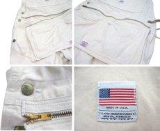 """画像4: NEW """"POINTER"""" White Duck Overall with Apron -made in USA- Off White size w34 x L30 (4)"""