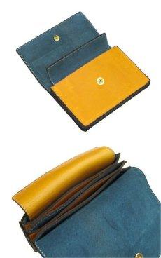 """画像5: """"JUTTA NEUMANN"""" Leather Wallet """"the Waiter's Wallet""""  Medium Size color : Mustard / Turquoise (5)"""