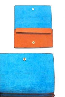 """画像4: """"JUTTA NEUMANN"""" Leather Wallet """"the Waiter's Wallet""""  color : Orange / Sky Blue 長財布 (4)"""